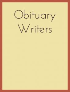 Obituary writers